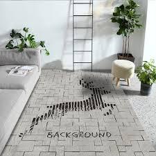 Rechteck Teppich Kreative Blumen Waschbarer Weicher Wohnzimmer