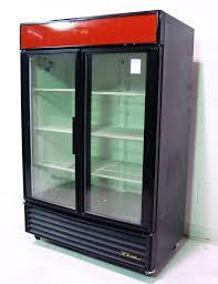 used true gdm 49 2 door beverage merchandiser cooler 49 cu ft