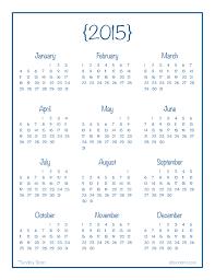 Calendar Yearly 2015 Printable Under Fontanacountryinn Com