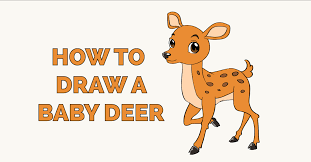 How To Draw A Baby Deer Really Easy Drawing Tutorial