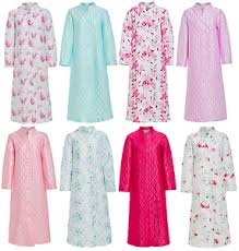 Ladies Traditional Quilted Dressing Gown Robe Long Buttoned ... & Image is loading Ladies-Traditional-Quilted-Dressing-Gown -Robe-Long-Buttoned- Adamdwight.com