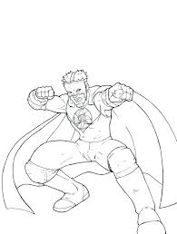 Wrestling Coloring Pages Wrestler Coloring Page Coloring Page Sport