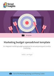 Budget Excel Sheet Template Marketing Budget Spreadsheet Template Smart Insights