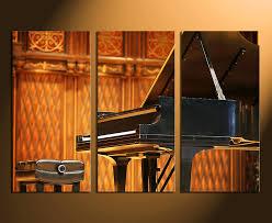 3 piece canvas wall art grand piano multi panel canvas orange canvas art  on grand piano wall art with 3 piece multi panel art music canvas print piano canvas