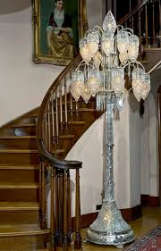 32 9 foot 2 inch tall liberty cut glass co floor lamp made