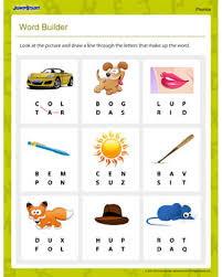 Activity worksheets for beginner phonics books. Word Builder Free Fun Phonicsworksheet For Beginners Jumpstart
