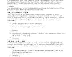 Recent Resume Formats Current Resume Formats Current Resume ...
