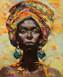 african woman portrait painting original oil painting 2016 oil painting by anastasiya valiulina