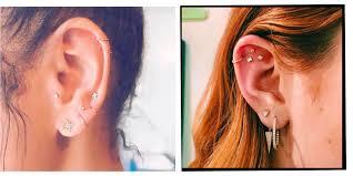 Ear Piercings Multiple Ear Piercings Inspiration For Curating Your
