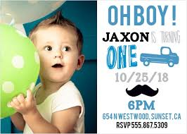 Birthday Invitations Boy 1st Birthday Invitation You Get Ideas From This Site