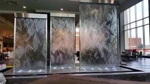 indoor wall water fountains. Indoor Waterfall Wall Custom Glass Water Walls Waterfalls Unique Fountains