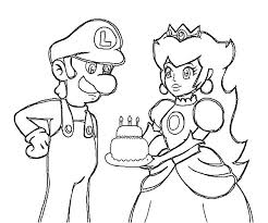 She comes from the film the princess and the frog. Princess Peach Give Luigi Birthday Cake Coloring Pages Download Print Online Coloring Pages For Free Color Nimbus