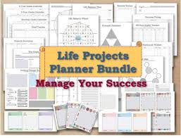 Free Project Planner Template Magnificent Project Planner Life Organizer Kit And Cards Plan Template Etsy