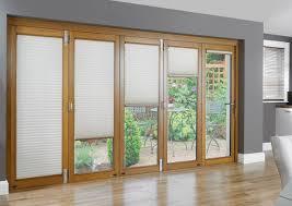 Window Treatments Metal Doors Room Design Amazing Black Horizontal Blind For Wooden Glass