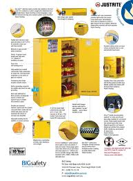 Yellow Flammable Cabinet Chemical Cabinet Big Safety Blog
