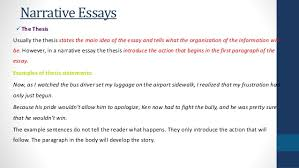 thesis of a narrative essay narrative essay thesis statement examples custom essays org