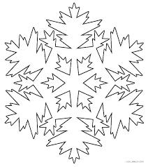 Snowflake Color Page Snowflake Mandala Coloring Pages Printable
