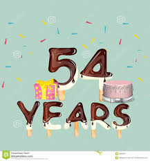 54 Years Happy Birthday Card Stock Vector - Illustration of ...