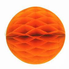 6 8 10 12 orange honeycomb paper lanterns