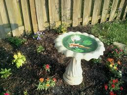 hand painted bird bath