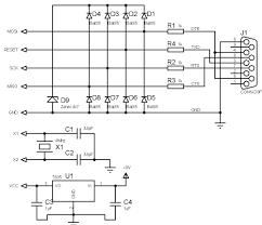 make your own ultra simple universal avr programmer avr programmer serial port circuit diagram