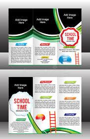 tri fold school brochure template tri fold school brochure template stock vector illustration of