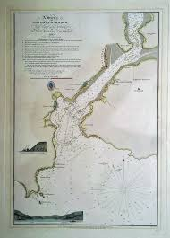 Salcombe Harbour Chart 19th Century Chart Of Salcombe Harbour A1 Antique Maps