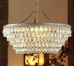 clarissa crystal drop round chandelier crystal drop round chandelier elegant pottery barn chandeliers