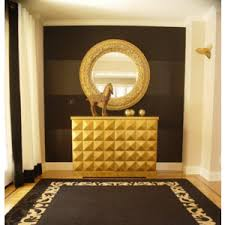 Small Picture black gold decorating ideas hall foyer entrance rug mirror cabinet