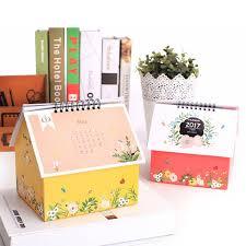 small desk calendar with notepad customer promotion paper calendar creative desk calendar
