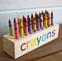 scrap wood projects plans. easy scrap wood crayon or pencil block holder projects plans