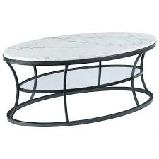 hammary impact oval cocktail table with marble top and glass shelf mallory coffee 385267756 576 9