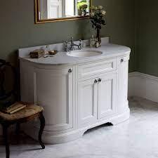 Freestanding 134 Curved Vanity Unit With Doors W4 Bathrooms