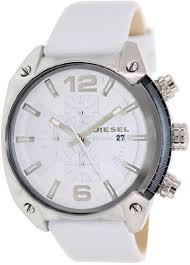 diesel overflow chronograph white dial white leather men s watch forgot password