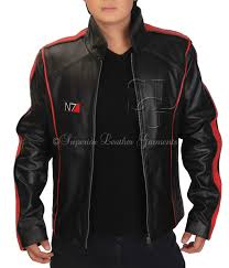 home mass effect 3 n7 game real leather jacket