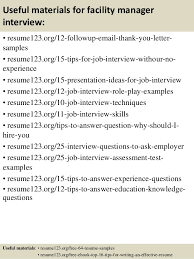 Facility Manager Resume Samples Top 8 Facility Manager Resume Samples