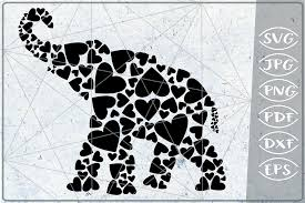This free svg cutting file contains the following formats Elephant Hearts Print In Heart Graphic By Cute Graphic Creative Fabrica