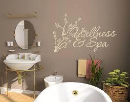 wellness spa bathroom wall decals