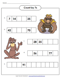 Counting By Sevens Chart Skip Counting By 7s
