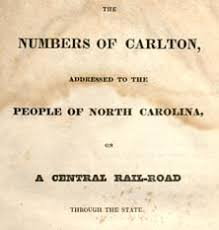 caldwell joseph ncpedia title page of numbers of carlton 1828 image from documenting the american south