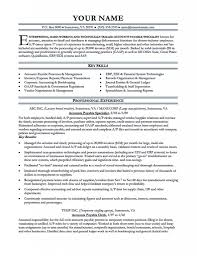 Account Receivable Resume Accounts Clerk Resume Payable Job