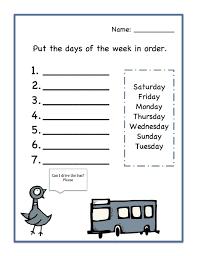 Days of the Week Worksheets Order | Teaching! | Worksheets ...