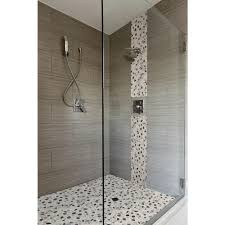 MS International Metro Charcoal  In X  In Glazed Porcelain - Glazed bathroom tile