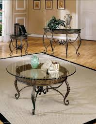 captivating glass metal coffee table round black and end tables set top steve silver lola 3 pi