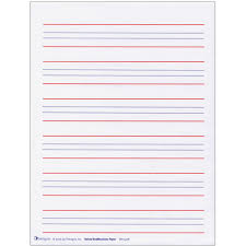 raised line writing paper red and blue lines package  raised line writing paper red and blue lines package of 50