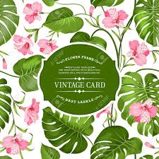 Spring Flower Template Spring Flowers Bouquet For Vintage Card Lable Card With Template