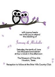 Wedding Invitations Templates Purple Love Owls Printable Wedding Invitation Wedding Invitation