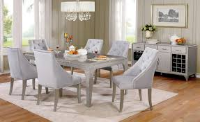 furniture of america dining sets. Furniture Of America CM3020T Dining Table Set | Glamorous Design Silver With Antique Mirror Sets