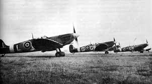 spitfire airplane. throughout the war, british pilots (as well as from france, poland, canada, australia and other countries) flew this airplanes over britain spitfire airplane