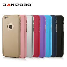 iphone 6 gold front. solid color 360 degree cover case for iphone 6 6s plus 5 5s se 7 gold front n